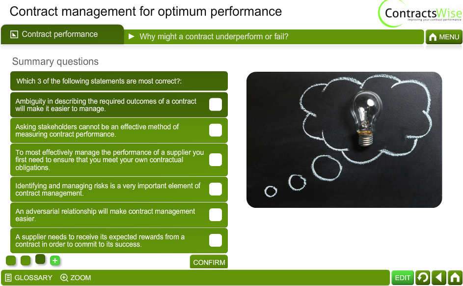 Contract Management for Optimum Performance